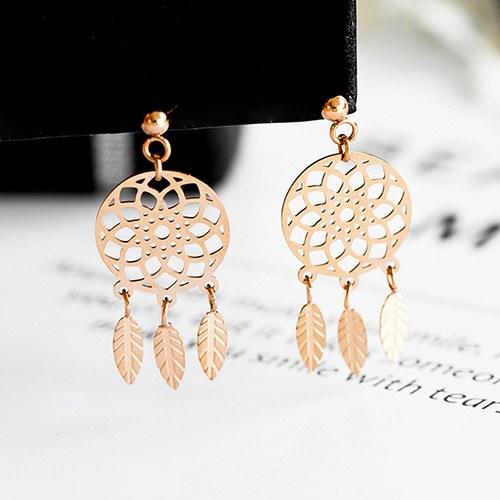 1048112 - <ER2023_DH05> [Stainless steel] sweet dream catcher earrings