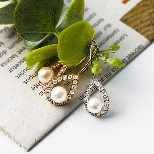 1048182 - <ER2038_DA29> Roy droplets pearl earrings