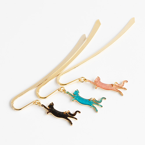 1048192 - <BK017> [handmade] swing cat Bookmark