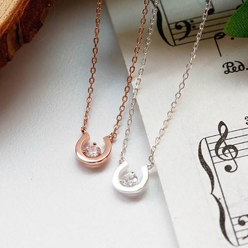 1048201 - <NE547_BB13> [Silver] Shori cubic necklace