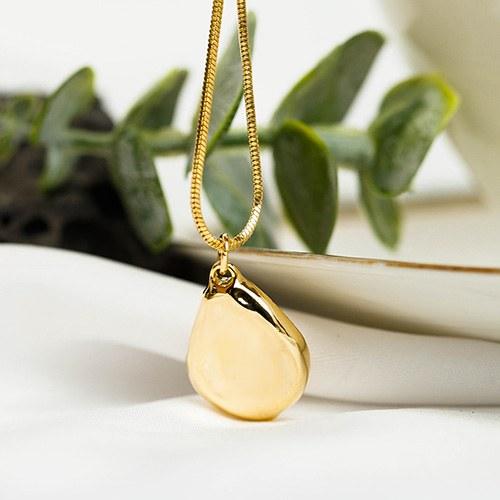 1048226 - <NE549_BC15> Bron bold long necklace