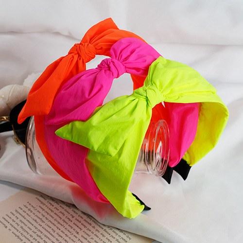1048238 - <HA700_EG04> Neon ribbon wide hairband