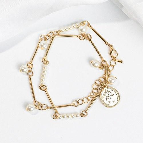1048269 - <NE553_BA18> [bracelet for both] Treasure coin choker necklace