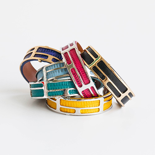1048279 - <BC793_HC14> [handmade] bold Color leather bangle bracelet