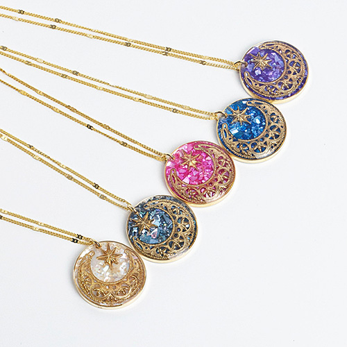 1048313 - <NE556_BB05> [handmade] prism moonlight necklace