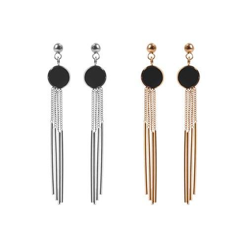 1048337 - <ER2026_DG08> [clip type] [Stainless Steel] Marco long chain earrings