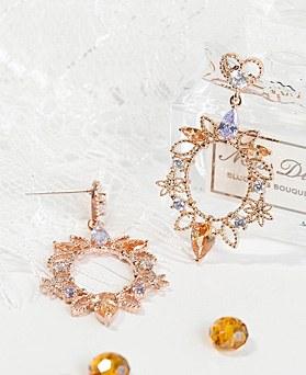 1048339 - <ER2047_DB30> [clip type] Rani crystal earrings