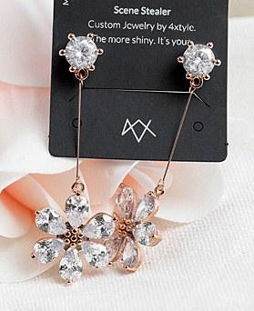 1048340 - <ER2051_IH03> [clip type] merry Flower crystal earrings