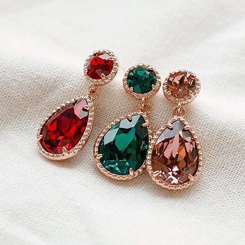 1048353 - <ER2058_DC26> [Swarovski] [Silver Post] Dariel crystal earrings