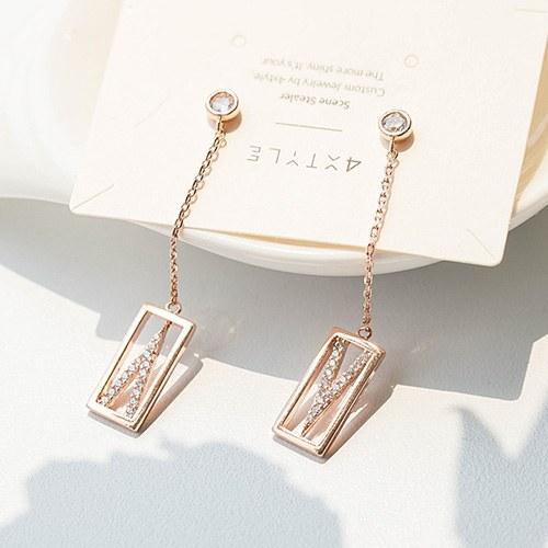 1048365 - <ER2064_DD05> Brillo long earrings