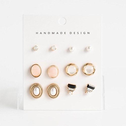 1048367 - <ER2066_CH18> [12Piece 1set] antique modria earrings