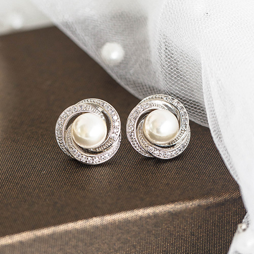 1048373 - <ER2068_DH07> Ain pearl earrings