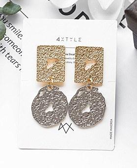 1048382 - <ER2076_DG05> [Silver Post] Myot drop earrings