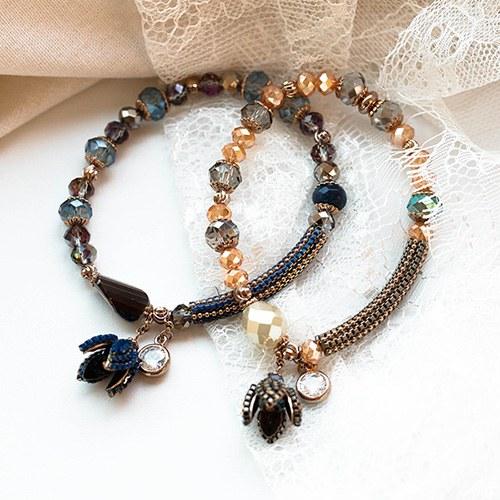 1048390 - <BC796_HE10> [handmade] lapel ethnic beads bracelet
