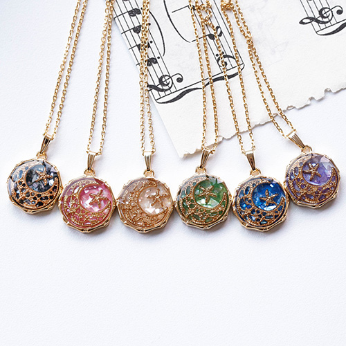 1048410 - <NE562_IE10> [handmade] petit prism moonlight necklace