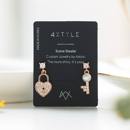 1048415 - <ER2065_DD02> [clip type] roen Secret Unbalanced earrings