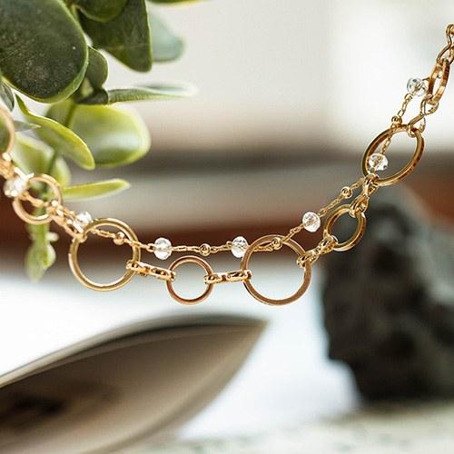 1048422 - <NE564_BA14> pure bling choker necklace