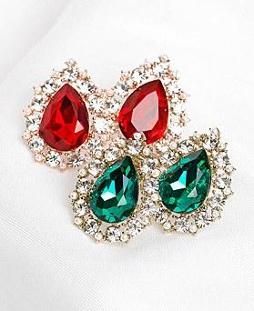 1048426 - <ER2083_CD21> [Silver Post] Rona Drip crystal earrings