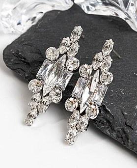 1048427 - <ER2082_DF07> [Silver Post] Mattia crystal earrings