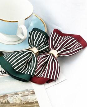 1048457 - <HA718_FE09> Ready ribbon Stripe hairpin