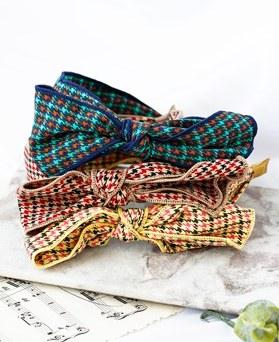 1048459 - <HA716_FC09> Hound check ribbon hairband