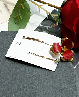 1048474 - <HA720_S> [Sold out] [2Piece 1set] Hearts Flower hairpin