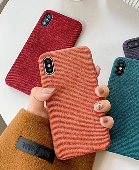 1048479 - <FI198_S> Soft Corduroy iPhone compatible case