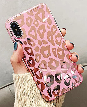1048482 - <FI195_S> Pink Leopard iPhone compatible case