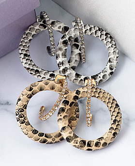1048491 - <ER2091_CB13> snake two-way earrings