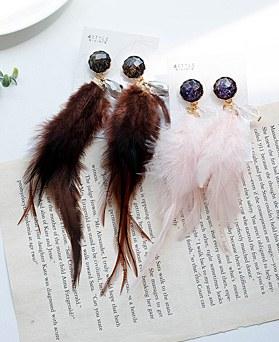 1048509 - <ER2094_CA19> crystal plum earrings