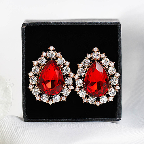 1048513 - <ER2083_CD21> [clip type] Rona Drip crystal earrings
