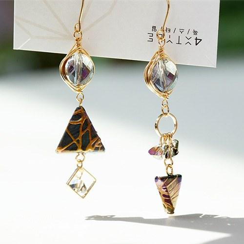 1048514 - <ER2090_DA05> [spring] [handmade] ether crystal earrings