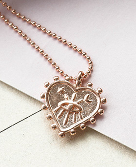 1048530 - <NE565_BB12> [Silver] Mystery heart necklace