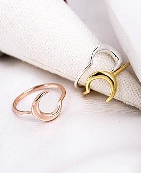 1048543 - <RI856_AG02> [Silver] simple moon ring