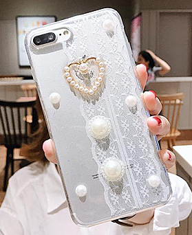 1048546 - <FI202_S> Lovely lace pearl iphone compatible case