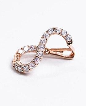 1048560 - <ER2098_DC13> [Silver] S line ring earrings