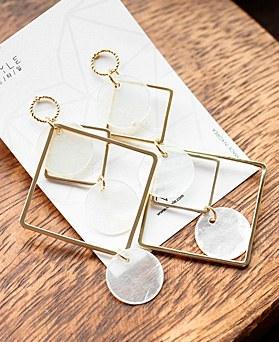 1048575 - <ER2102_CA09> Vivarian Unbalanced earrings
