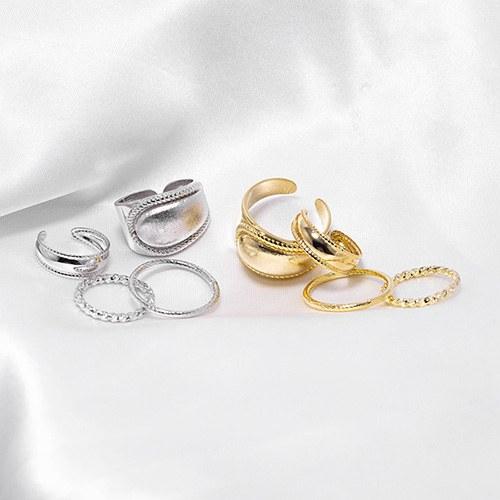 1048593 - <RI860_JB25> [4Piece 1set] Calix bold ring