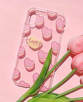 1048603 - Pink heart macaron iphone case