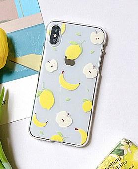 1048638 - <FI212_DM03> Apple banana lemon iphone compatible case