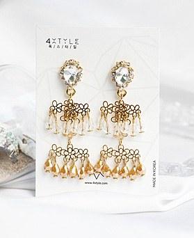 1048643 - <ER2118_DE17> [handmade] floral beads earrings
