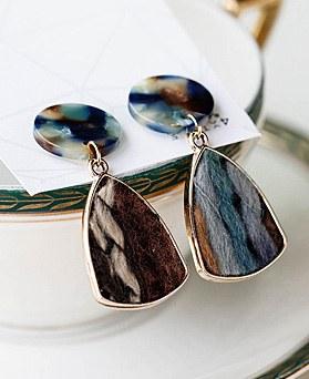 1048644 - <ER2119_DD11> Autumn drop earrings