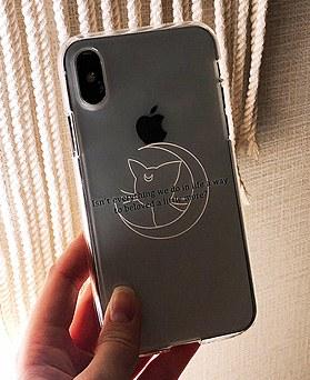 1048646 - <FI218_DM07> Moon cat iphone compatible case