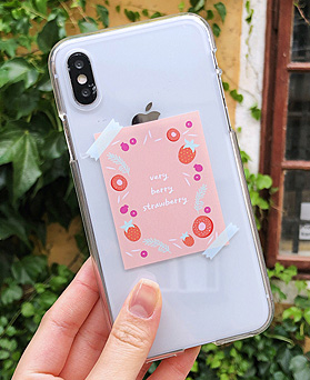 1048647 - <FI219_DM07> strawberry poster iphone compatible case