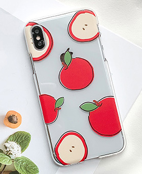 1048649 - <FI221_DM07> Red Apple Drawing iPhone Compatible Case