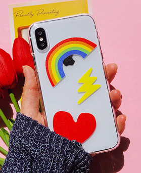 1048650 - <FI222_DM07> rainbow pop iphone compatible case