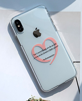 1048654 - <FI226_DM07> Pink heart letter iPhone compatible case