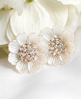 1048657 - <ER2120_IH07> Linen Flower earrings