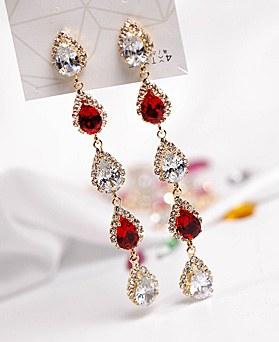 1048660 - <ER2110_CA20> [clip type] Gotha crystal earrings