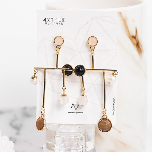1048662 - <ER2117_DB18> [clip type] Annabelle drop earrings